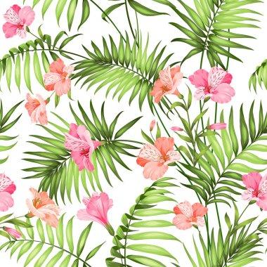 Beautiful tropical flowers.