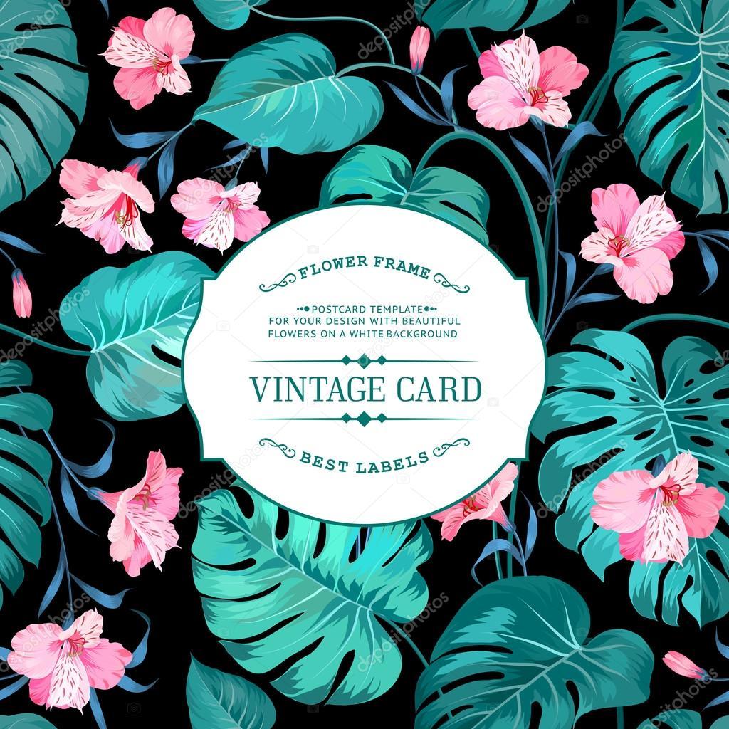 Vintage label card.