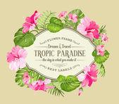 Gyönyörű trópusi kártya.