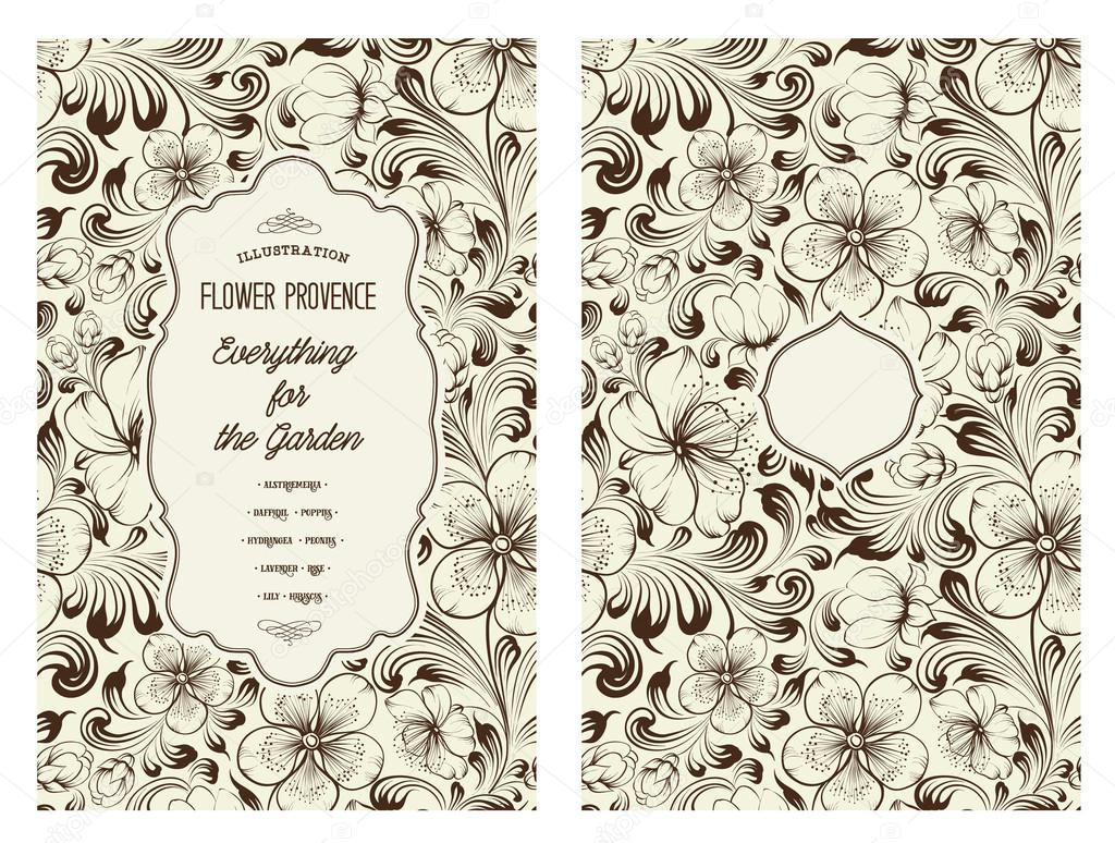 Book Cover Design With Flowers ~ 책 표지 디자인 — 스톡 벡터 kotkoa