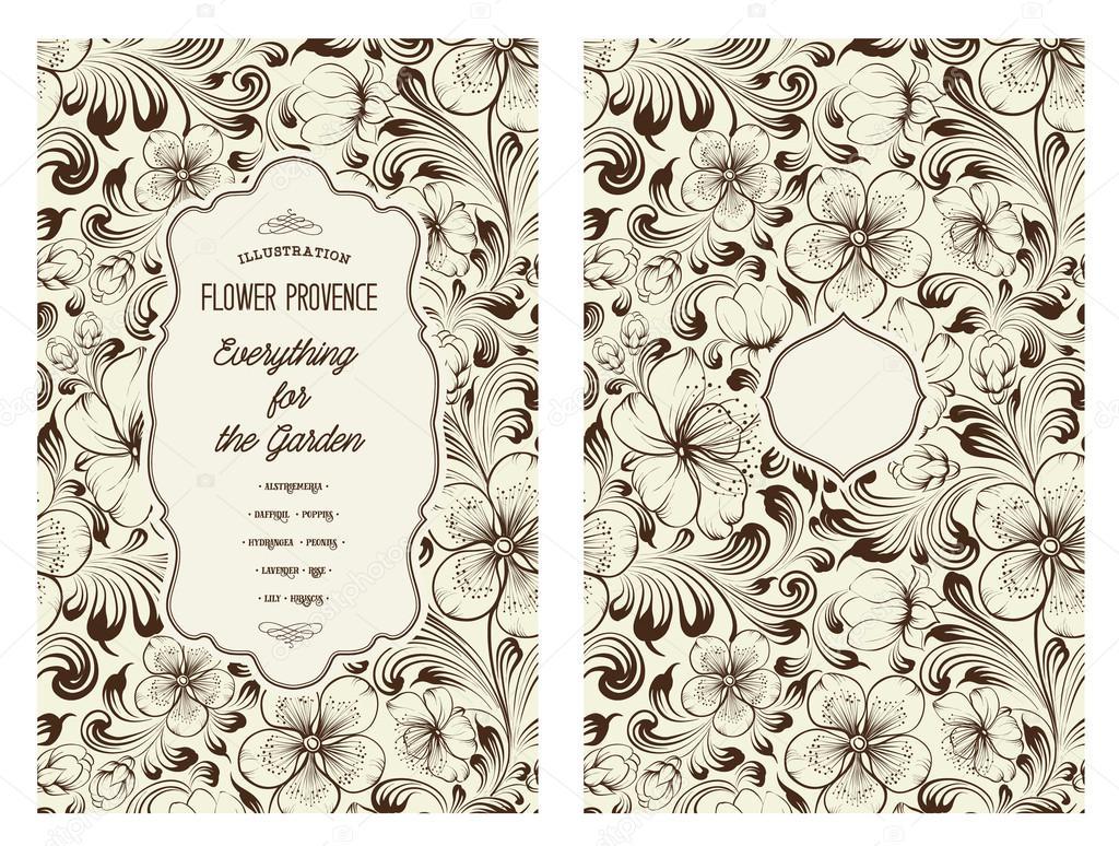Book Cover Flower : 책 표지 디자인 — 스톡 벡터 kotkoa