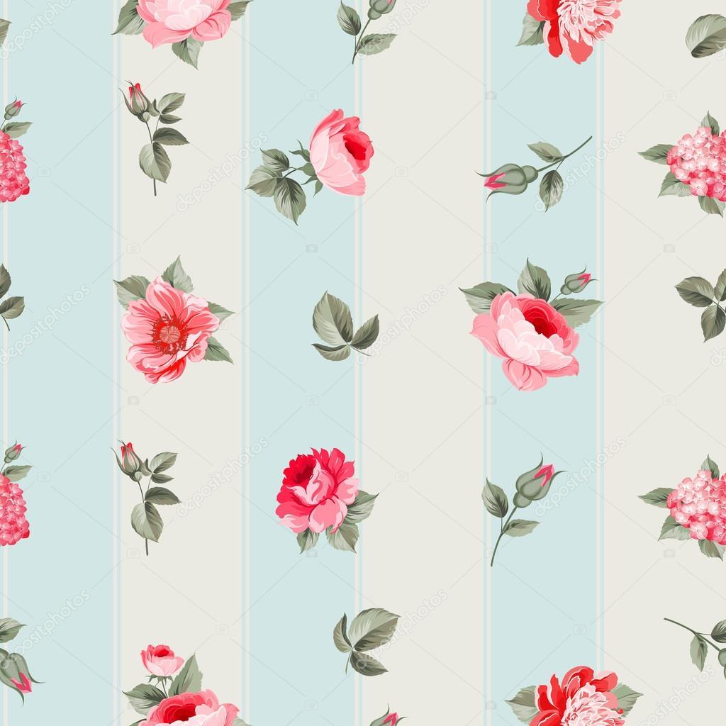 Rose seamless pattern.