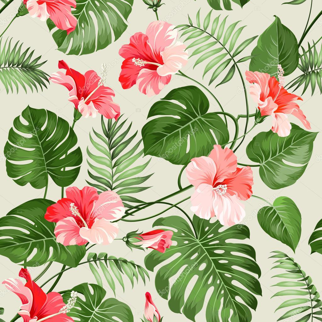 Seamless tropical pattern.