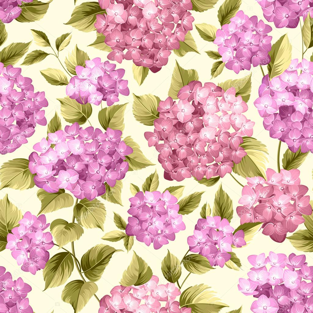 Purple flower hydrangea.