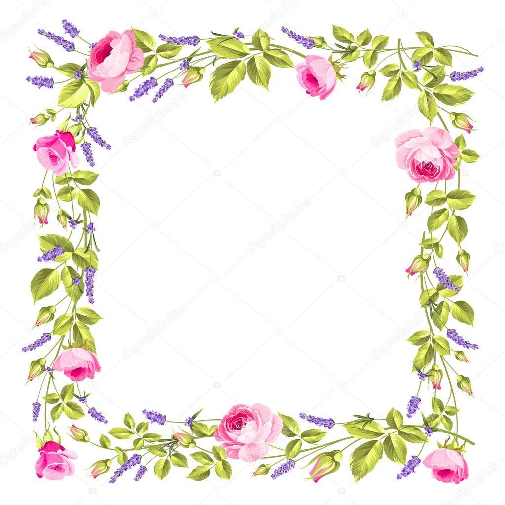 marco flores vintage — Archivo Imágenes Vectoriales © Kotkoa #94231240