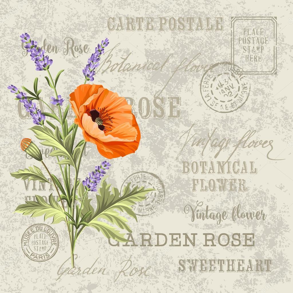 The lavender elegant card.