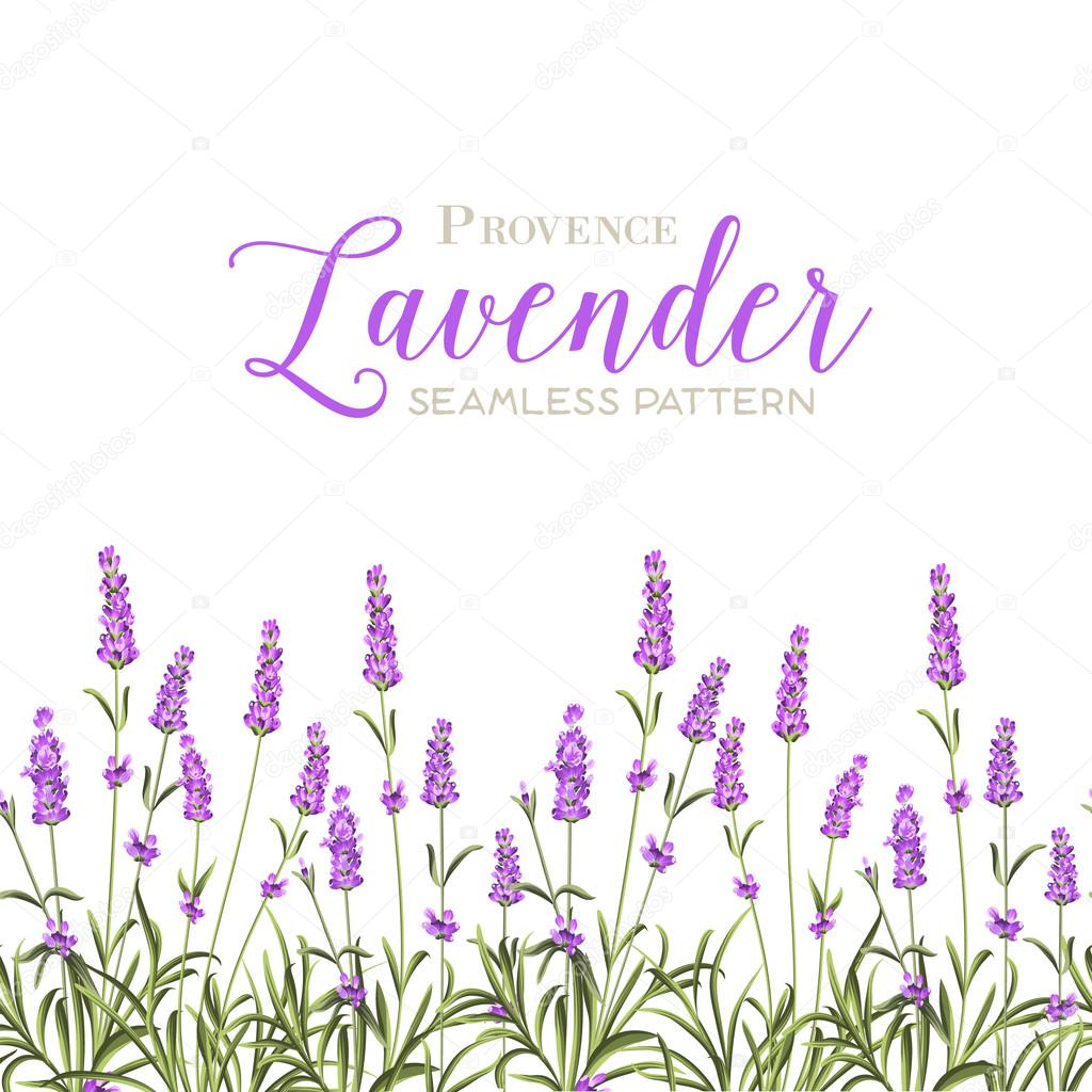 Wreath of lavender flowers.