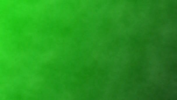 Kouř na zeleném pozadí obrazovky, chroma klávesa