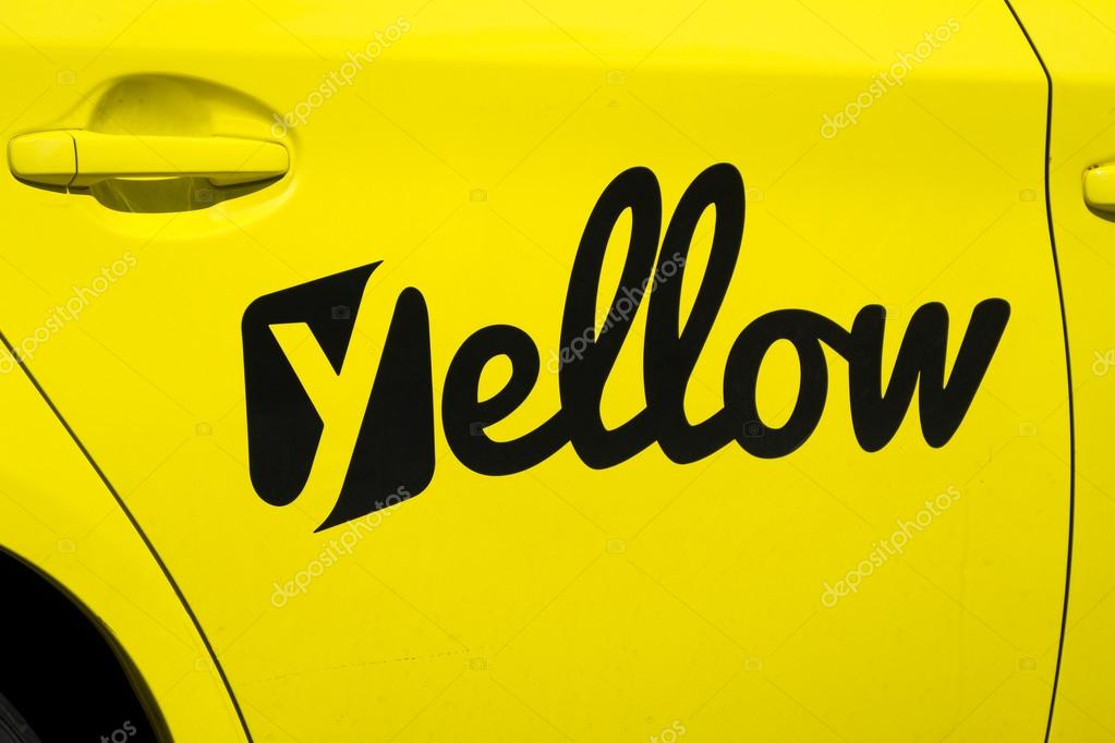 California Yellow Cab Icon and Logo – Stock Editorial Photo