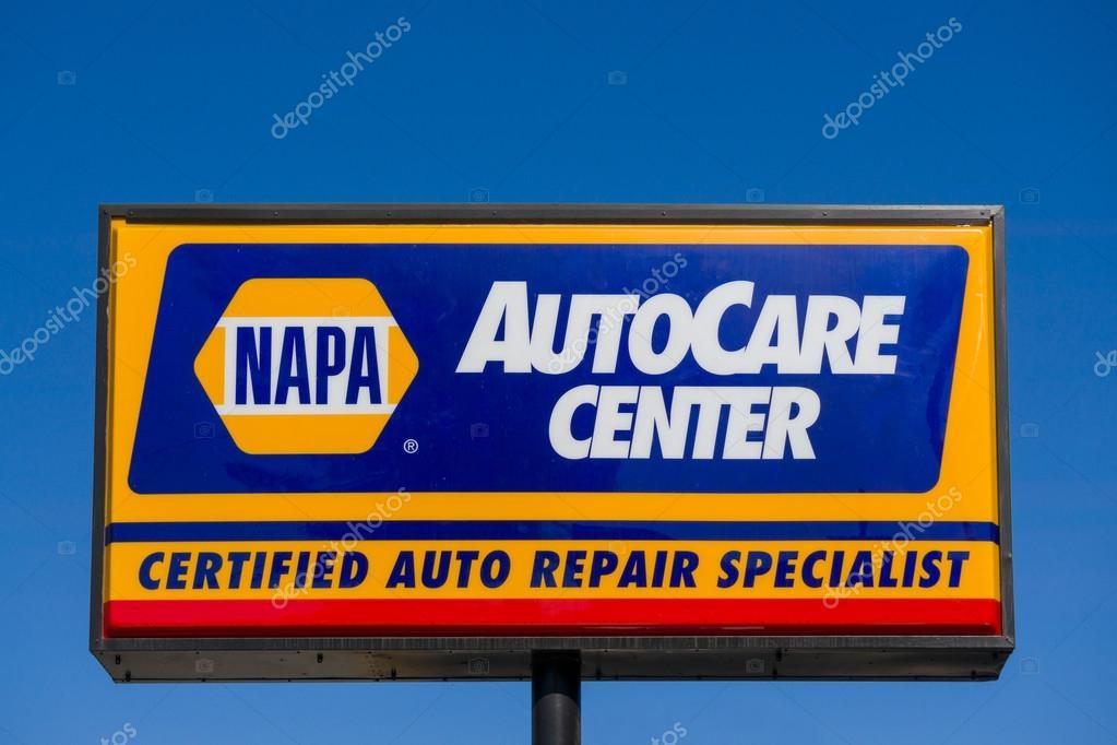 Napa Auto Onderdelen Winkel Teken En Logo Redactionele Stockfoto