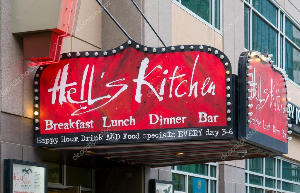 Teufels Küche-Minneapolis Restaurant Exterieur und Zeichen ...