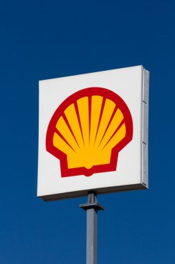 Shell Oil Roadway Sign