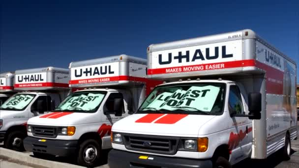 U-Haul Trucks Lined in a Row