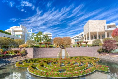 The Central Garden at the Getty Center in Los Angeles.
