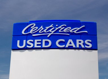 Certified Used Car Sign