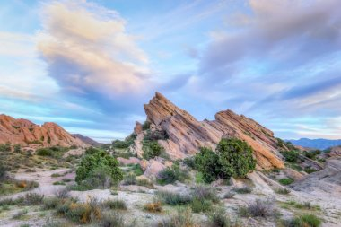 Vasquez Rocks Natural Area Park at Sunset