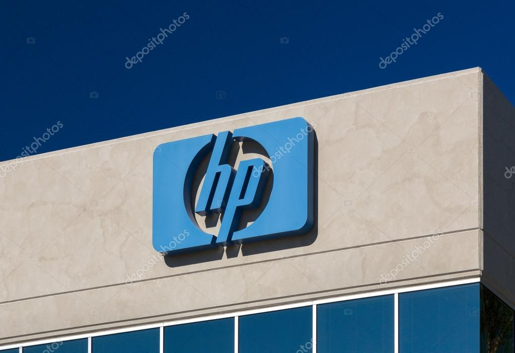 Hewlett Packard Corporate Logo And Sign Stock Editorial Photo
