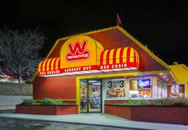 Wienerschnitzel Fast Foot Restaurant and Sign