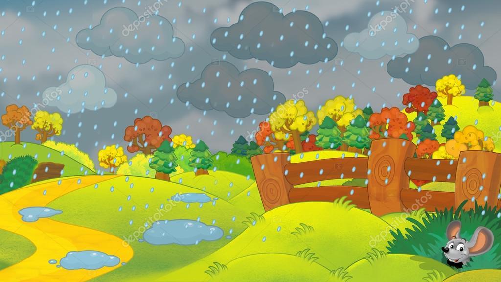 Escena De Dibujos Animados De Un
