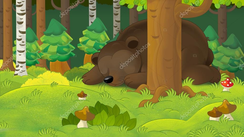 Для, картинка прикол медведь собирает грибы в лесу