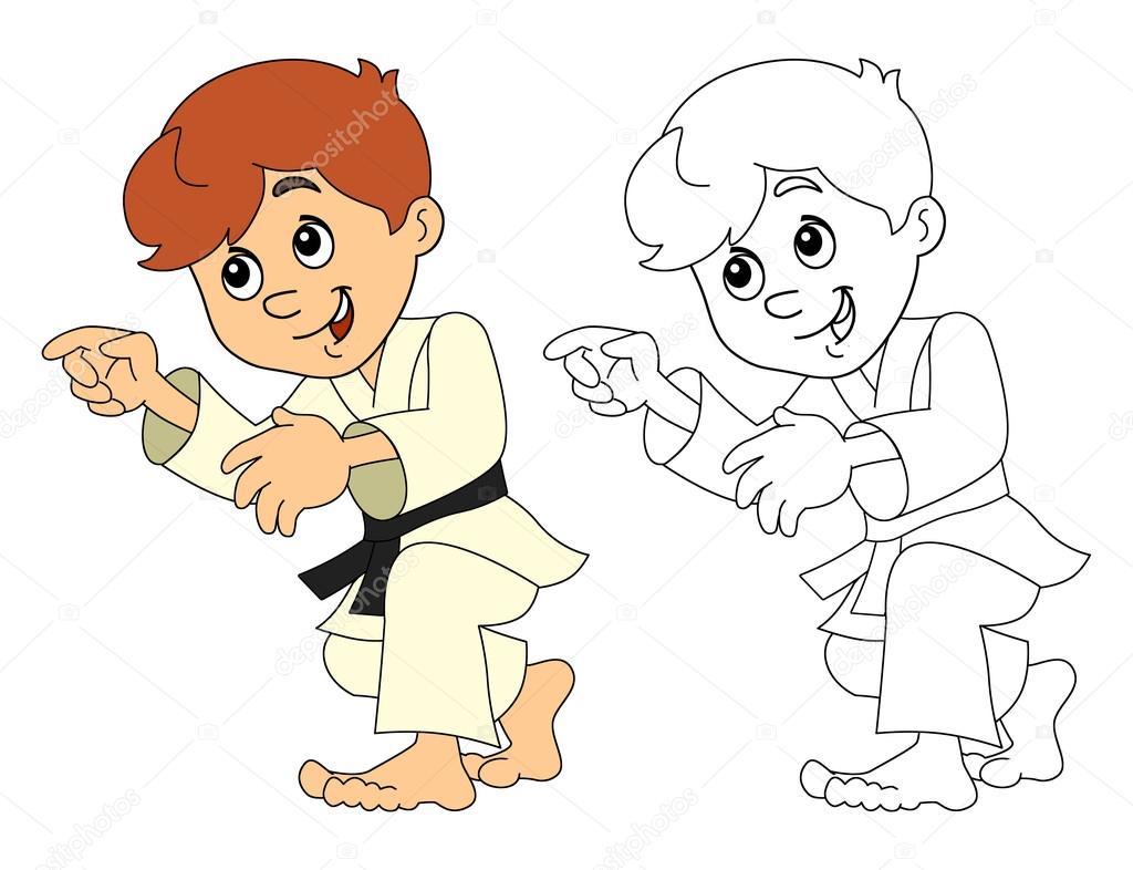 Imagenes De Niños Para Colorear Animados: Dibujos: Niños Alegres Animados Para Colorear