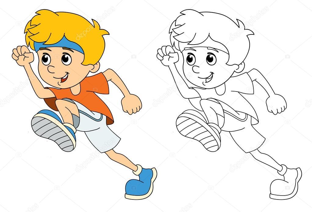 Los niños y el deporte - gimnasia - funcionando — Foto de stock ...