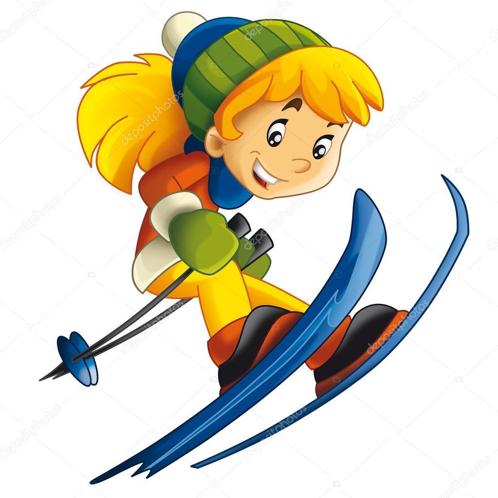 actividad de ni u00f1o esqu u00ed dibujos animados aislado ski clipart skieurs clipart