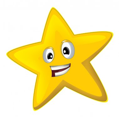 Cartoon happy star - isolated - illustration for children