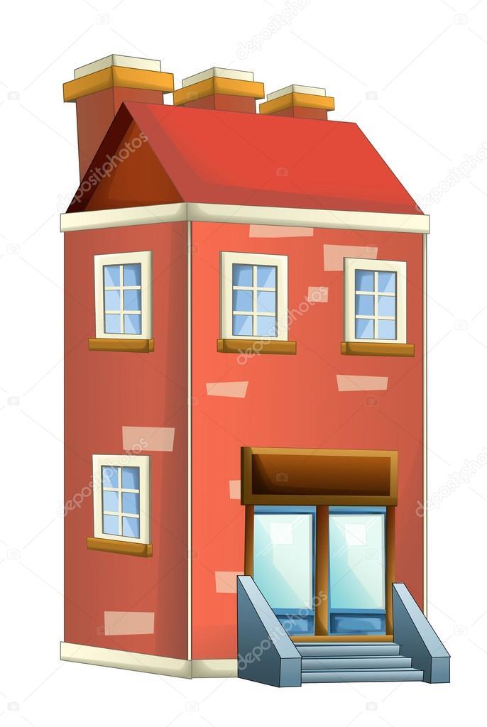 casa colorida dos desenhos animados stock photo illustrator hft