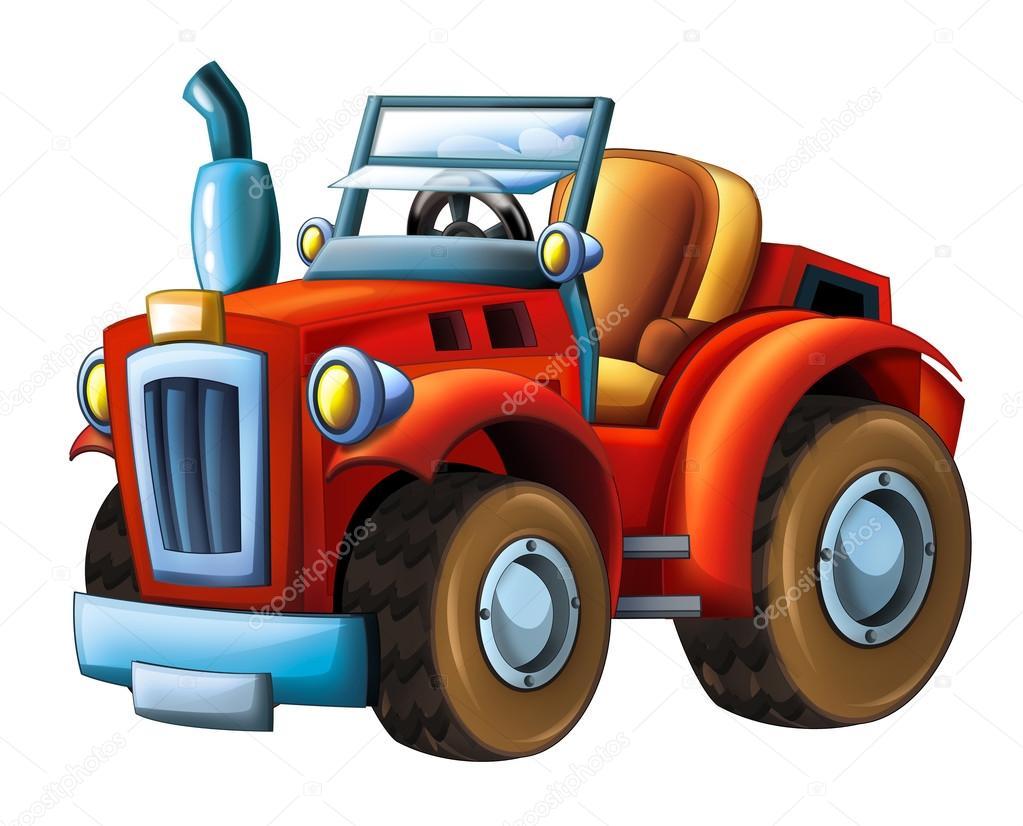 Kresleny Polni Traktor Stock Fotografie C Illustrator Hft 116765664