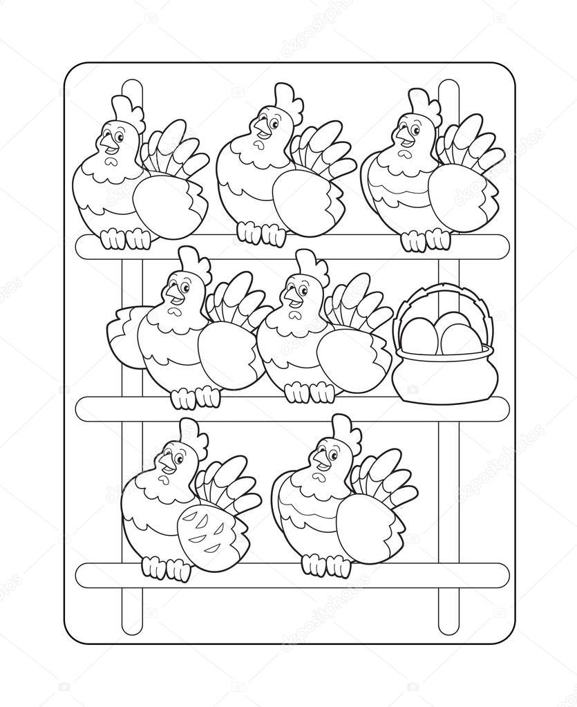 Imágenes: gallinero para colorear | La anfitriona en el gallinero