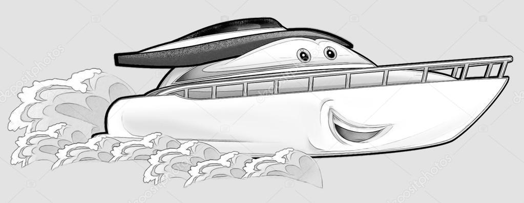 Página para colorear - barco — Foto de stock © illustrator_hft #53597227
