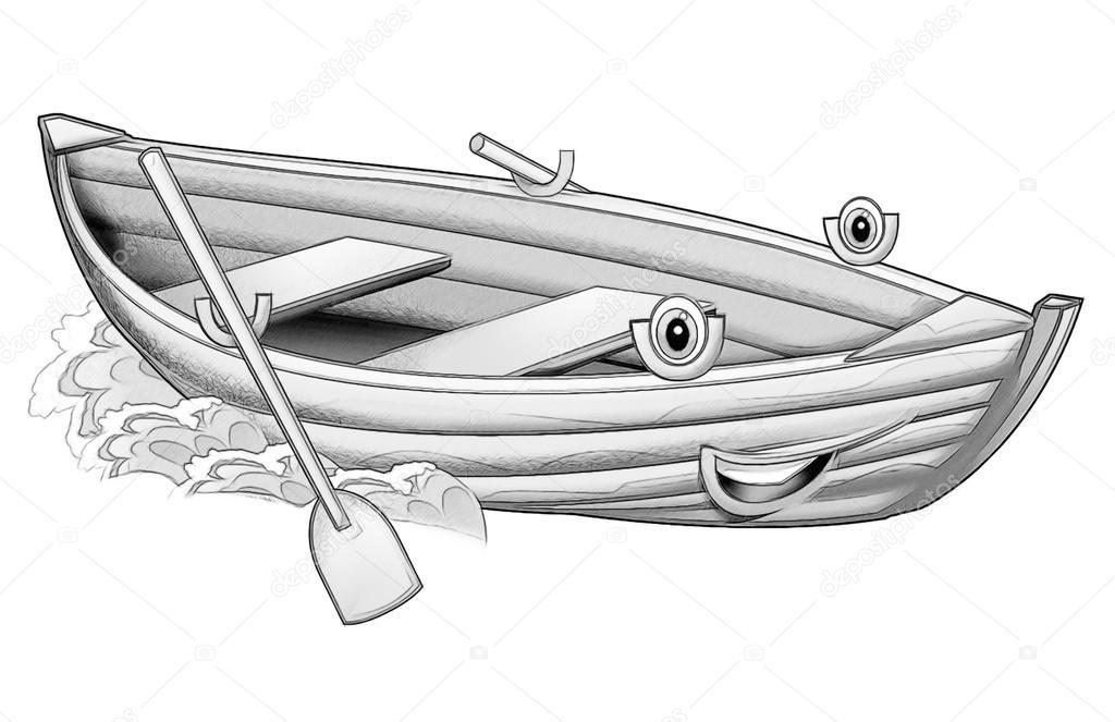 Página para colorear - barco — Foto de stock © illustrator_hft #53597255