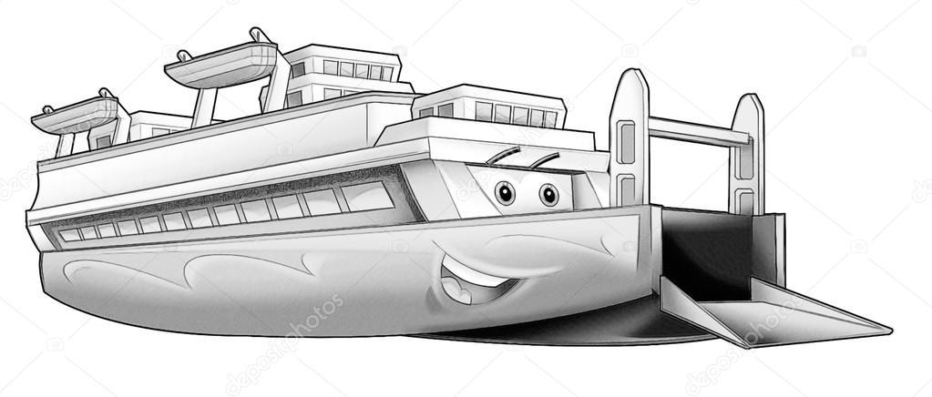 Página para colorear - barco — Foto de stock © illustrator_hft #53597423