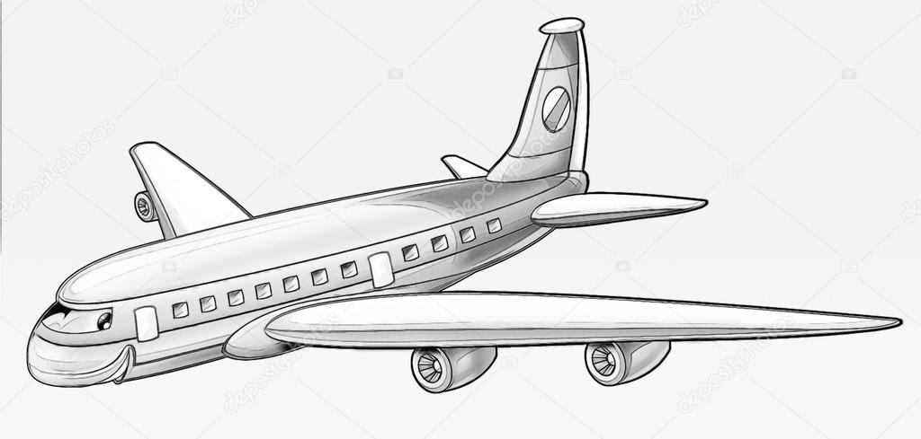 Coloriage Avion De Ligne Photographie Illustrator Hft C 53597485