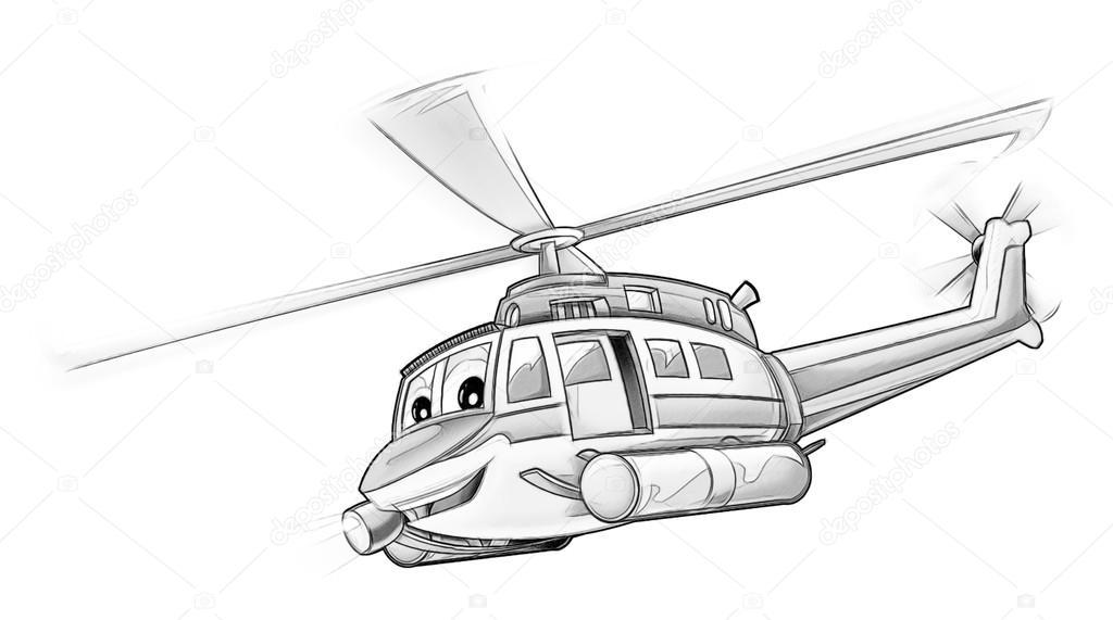 Boyama Page Helikopter Stok Foto Illustratorhft 53597517