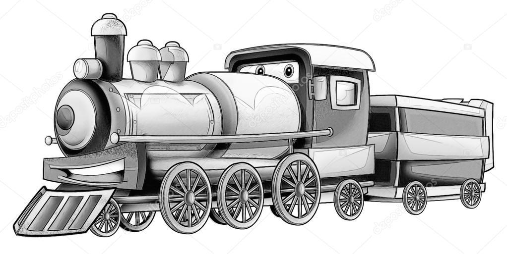 Página para colorear - tren — Foto de stock © illustrator_hft #53597561
