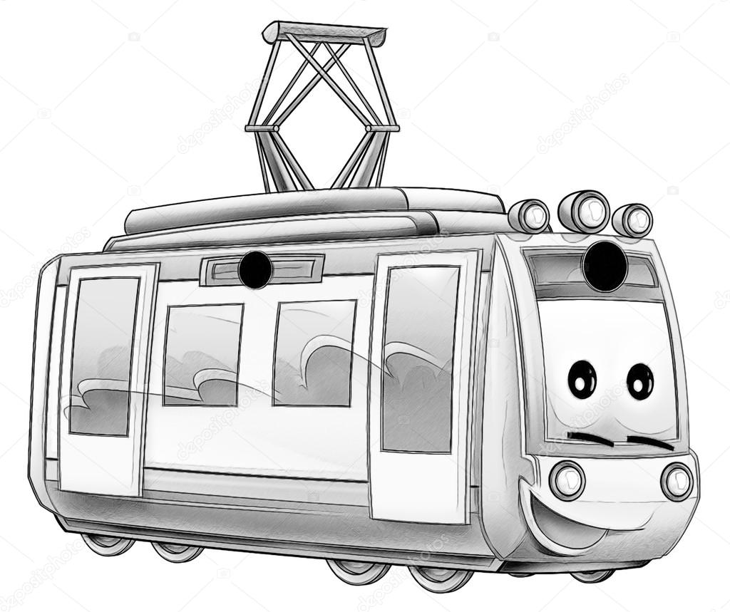 Coloring Page Vehicle Stock Photo C Illustrator Hft 53597661