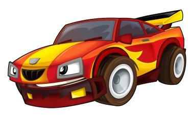 Cartoon car - street racing vehicle - illustration for the children stock vector