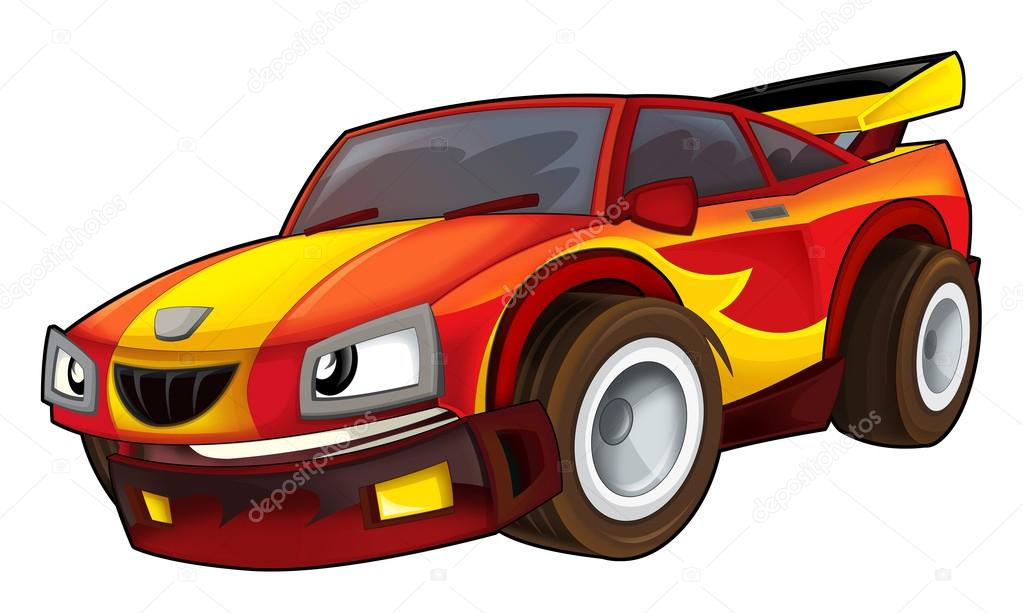 Pictures Street Racing Car Cartoon Car Street Racing Vehicle Stock Photo C Illustrator Hft 53610877