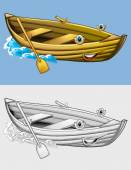 Fotografie Coloring page - boat