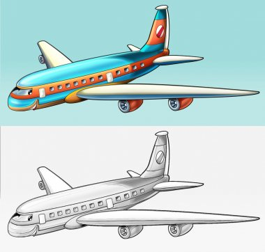 Coloring page - airliner