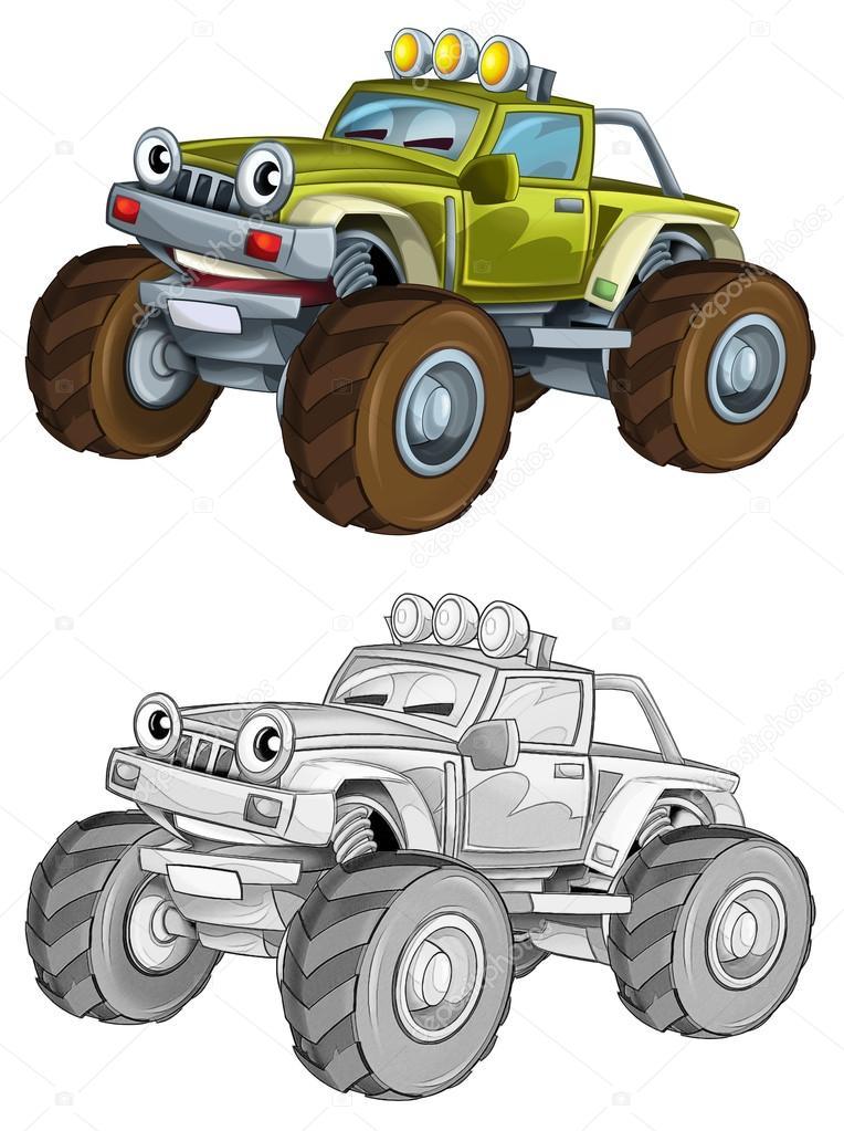 Seite - Färbung Auto — Stockfoto © illustrator_hft #53656275