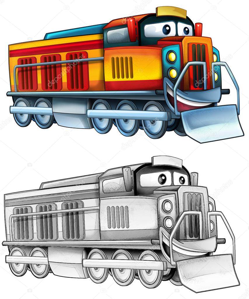Página para colorear - tren — Fotos de Stock © illustrator_hft #53656371