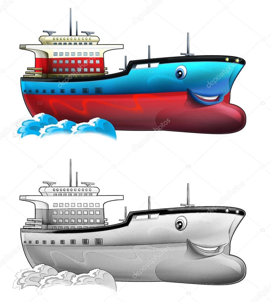 Boyama Sayfası Tekne Stok Foto Illustratorhft 53657161