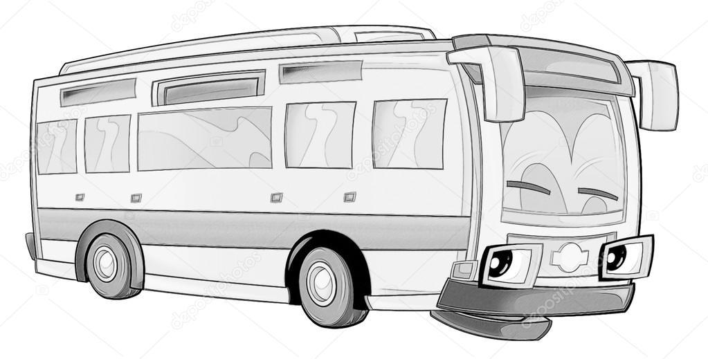 Boyama Sayfası Otobüs Stok Foto Illustratorhft 53735933