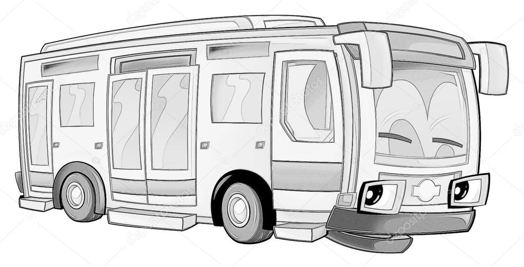 Boyama Sayfası Otobüs Stok Foto Illustratorhft 53735985