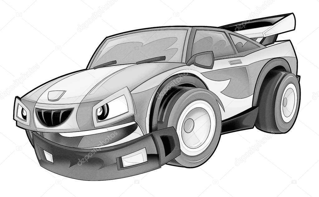 Boyama Sayfası Araba Stok Foto Illustratorhft 53736129
