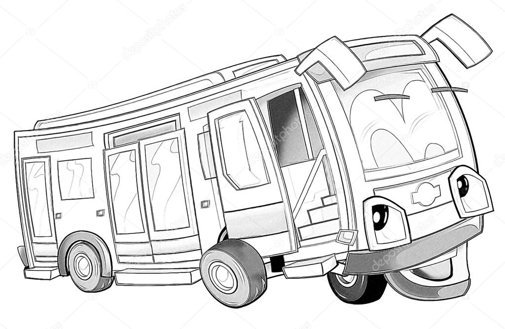 Malseite - bus — Stockfoto © illustrator_hft #53736201