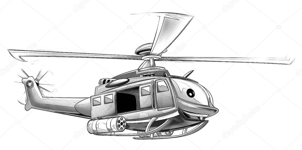 Página para colorear - helicóptero militar — Fotos de Stock ...
